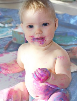 Messy Play in our Baby Room