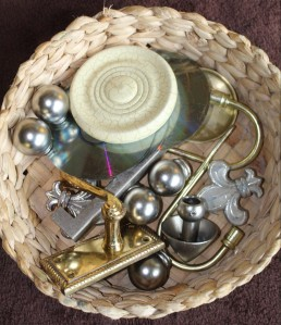 Loose Parts In A Basket For Learning