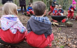 Circle Games at our Forest School near Leeds