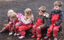 Spending time together at Forest School