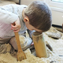 Playing with Sand at Nursery